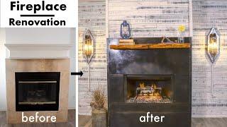 Extreme Fireplace Makeover/Renovation | DIY