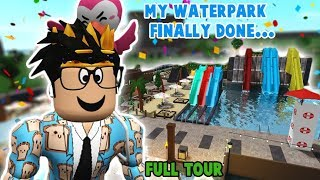 I finally FINISHED my BLOXBURG WATERPARK... full tour and opening soon