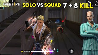 Next Level Solo vs Squad 15 Kill New Gameplay Best Moment - Garena Free Fire