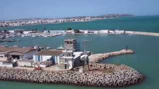preview picture of video 'Leaving the Port of La Goulette, Tunisia by Cruise Ship (4x speed fast time lapse) - 9th July, 2014'