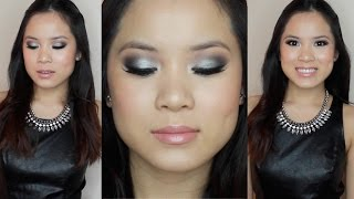 PROM MAKEUP | Black & Silver Smokey Eye | For Dark Color Dresses