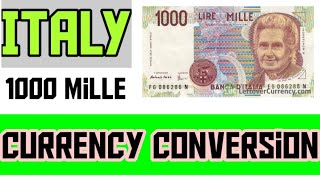 ITALY 1000 mille note