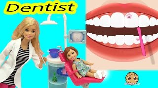 Kid Goes To Dr. Barbie Dentist To Brush, Clean Teeth & Blast Away Sugar Tooth Bugs in Game
