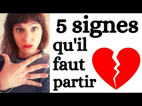 5 signes qu'il faut PARTIR immédiatement dans une relation AMOUREUSE