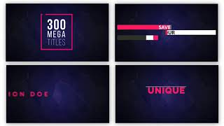 mogrt titles - 250 animated titles for premiere pro after