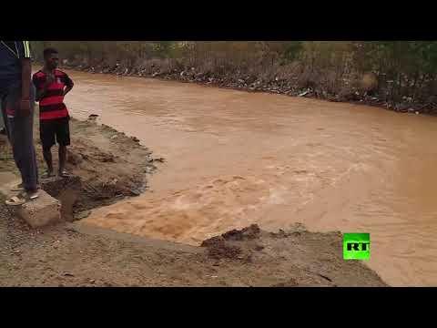 العرب اليوم - شاهد: ارتفاع مناسيب النيل والمياه تغمر أحياء كاملة في  السودان