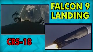 SpaceX CRS-18 - Falcon 9 Landing