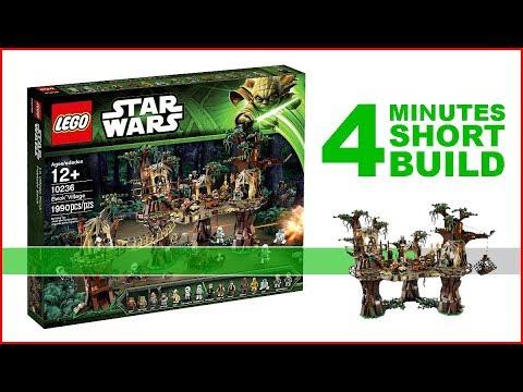 LEGO Ewok Village 10236 SHORT BUILD Star Wars - 4 Minutes Fast Build