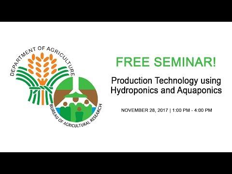 Production Technology using Hydroponics and Aquaponics