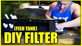 DIY aquarium filter sump (on top of fish tank)