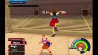 Let's Play Kingdom Hearts pt. 31 - Sora vs. Hercules - dooclip.me