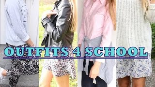 🎒 4 OUTFITS FOR SCHOOL 🎓