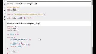 Modules in Perl