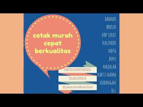 JASA CETAK ONLINE MURAH BAGUS