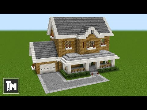 minecraft how to build a suburban house tutorial easy episode 1
