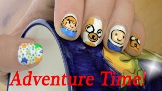 ☆Adventure Time! Fionna, Cake, Finn And Jake Nail Art Designs☆