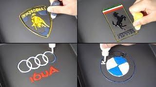 Car Logo Pancake Art - Lamborghini, Ferrari, Audi, BMW (The World