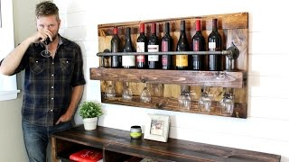 The Industrial Wine Rack - Easy DIY Project