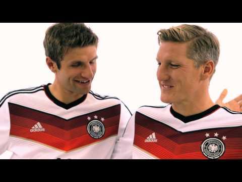 Was trinkt die Kuh ? DFB Trikot Home 2014 Schweinsteiger und Müller