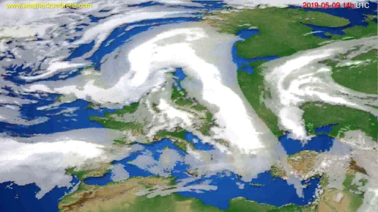 Cloud forecast Europe // modelrun: 00h UTC 2019-05-07
