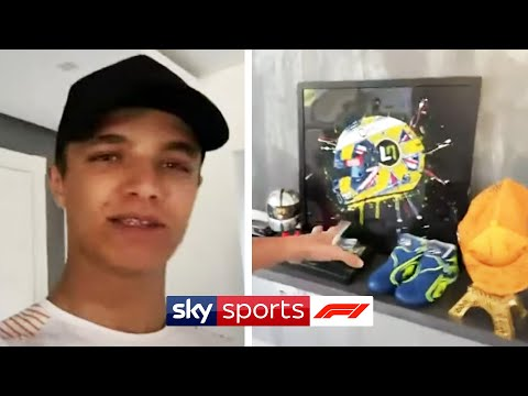 "Image: Lando Norris gives a tour of his house: ""MotoGP first thing I watched"""