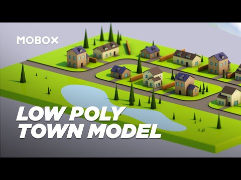 Low Poly Town 3D Modeling – Cinema 4D Tutorial