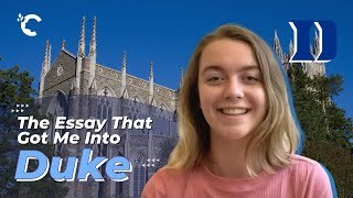 youtube video thumbnail - The Essay That Got Me Into Duke