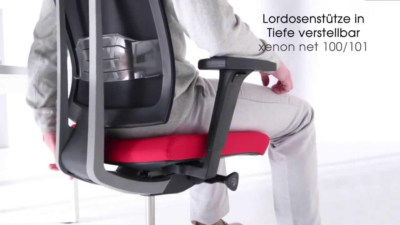 Video zum Profi Bürostuhl Xenon Net 101SFL P59PU