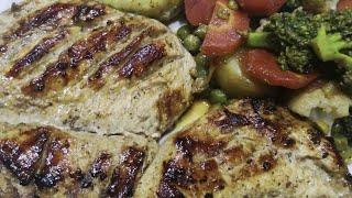 Chicken steak platter