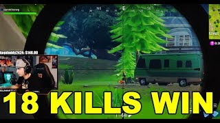 Summit1G Plays Fortnite   18 KILLS WIN MATCH   Summit Making WEIRD NOISES
