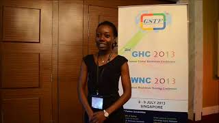 Ms. Ibifunke Adegunle at GHC Conference 2013 by GSTF Singapore