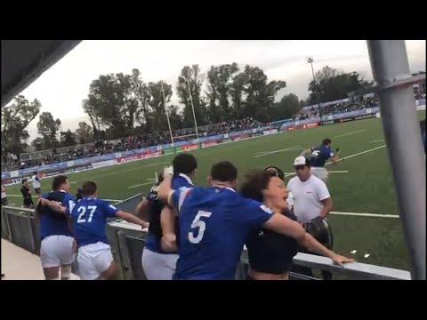 France bench goes crazy after winning U20 Championship