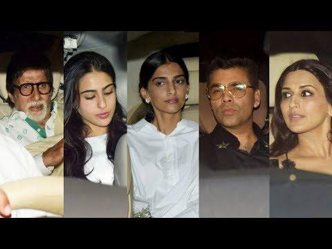 Jaya Bachchan's 70th Birthday Bash   Amitabh Bachchan, Sonam, Sara Ali Khan, Karan Johar