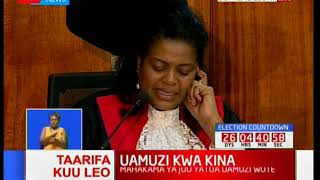 Justice Njoki Ndung'u gives her full judgement on the Supreme Court petition part2