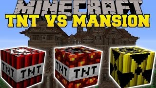 TOO MUCH TNT MOD VS HEROBRINE'S MANSION - Minecraft Mods Vs Maps (TNT, Dynamite, & Nukes)
