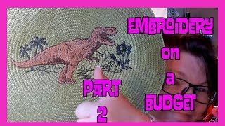 Machine Embroidery On A Budget: Dinosaur Applique Embroidery Designs