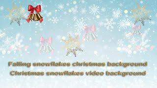 Christmas snowflakes background video loops | christmas snowflakes video 2020 | videos of snowflakes