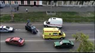 Авария в центре Кургана 14.06.15. 5 Трупов, 1 выживший виновник. yt:quality=high