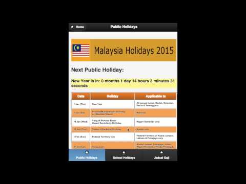Video of Malaysia Public Holiday 2015