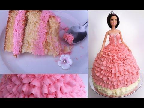 Video Birthday Cake/ Princess Doll Tutorial How To Cook That Ann Reardon