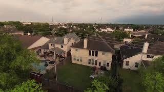 DJI FPV Drone in the backyard