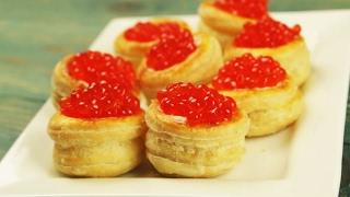 Волованы с красной икрой - Рецепты от Со Вкусом