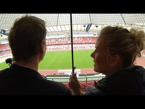 Nurnberg auf dem Schirm: im FCN-Stadion