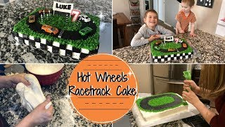 RACETRACK CAKE :: CAKE DECORATING TUTORIAL :: MAKING LUKE'S 7TH BIRTHDAY CAKE
