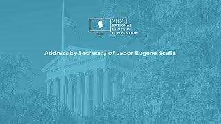 Click to play: Address by Secretary of Labor Eugene Scalia