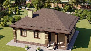 Проект дома 090-C, Площадь дома: 90 м2, Размер дома:  11x11,8 м