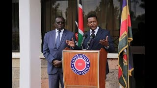 Mutua appoints 7 ministers amid frustrations - VIDEO