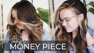 Money Piece Hair Technique | How To Do A Face Frame On A Dimensional Balayage (NEW Hair Trend 2019)