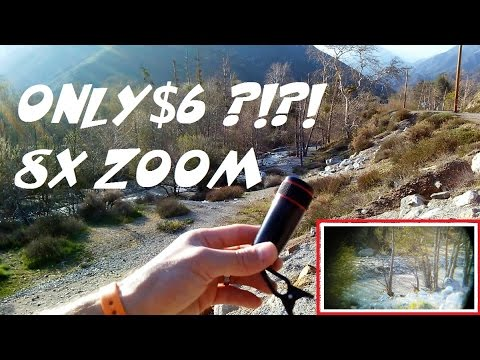 $6 Telescopic Cell Phone Camera Zoom Lens Review!