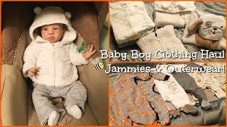 👶🏻 Newborn Baby Boy Clothing Haul! Jammies & Outerwear 🦊🐶